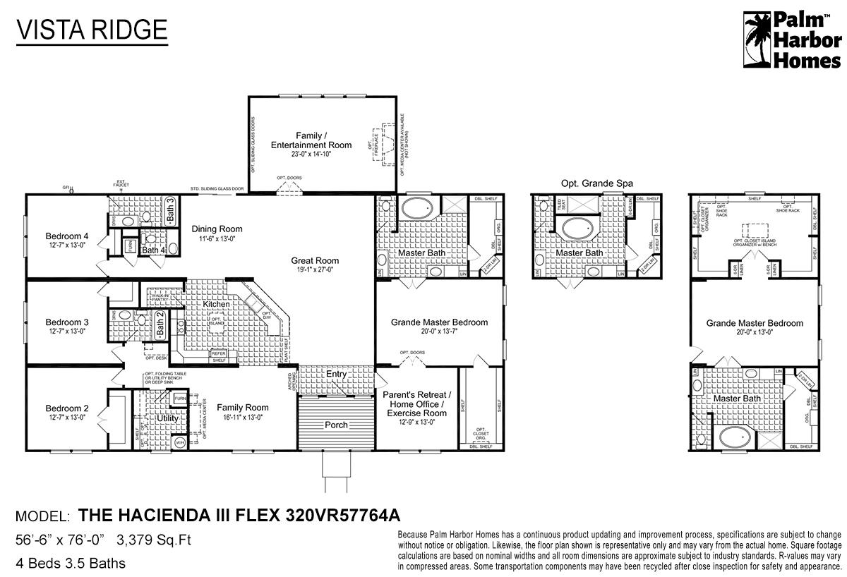 Vista Ridge The Hacienda III Flex 320VR57764A Layout