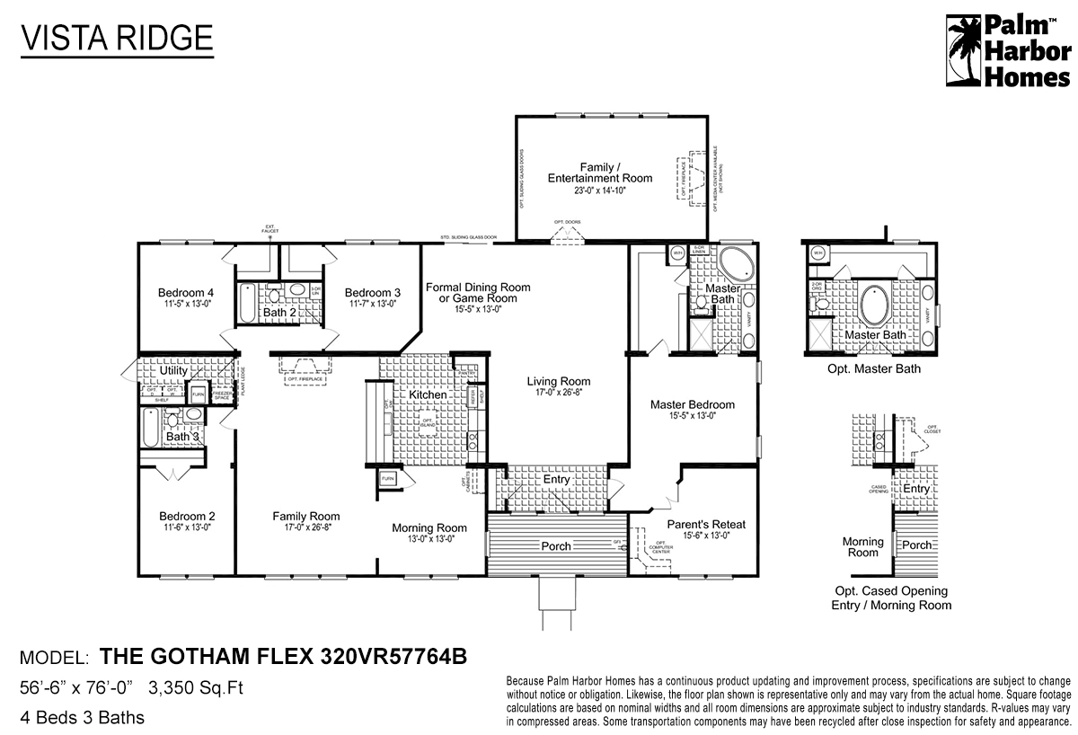 Vista Ridge The Gotham Flex 320VR57764B Layout