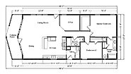 Palm Harbor The Metolius Cabin 28562A Layout