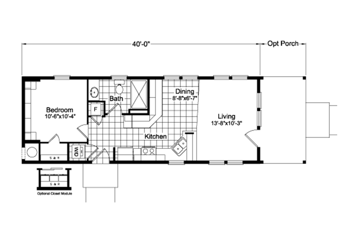 Palm Harbor The Paradise PL15401A Layout