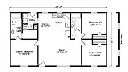 Palm Harbor The Applegate HD28563A Layout