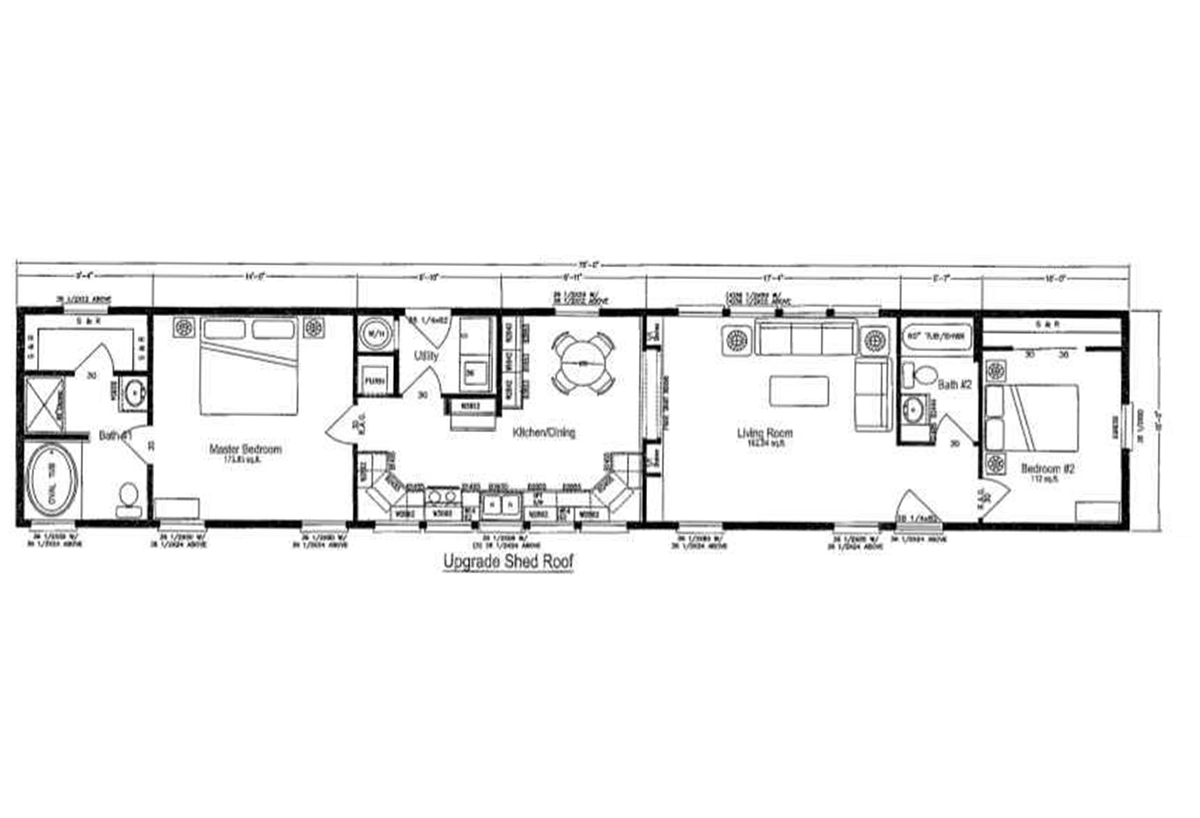 Palm Harbor The Loft HD1576 Layout