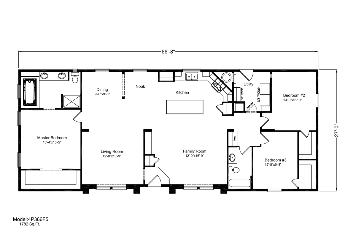 Palm Harbor The Mt. Constance N4P366F5 Layout