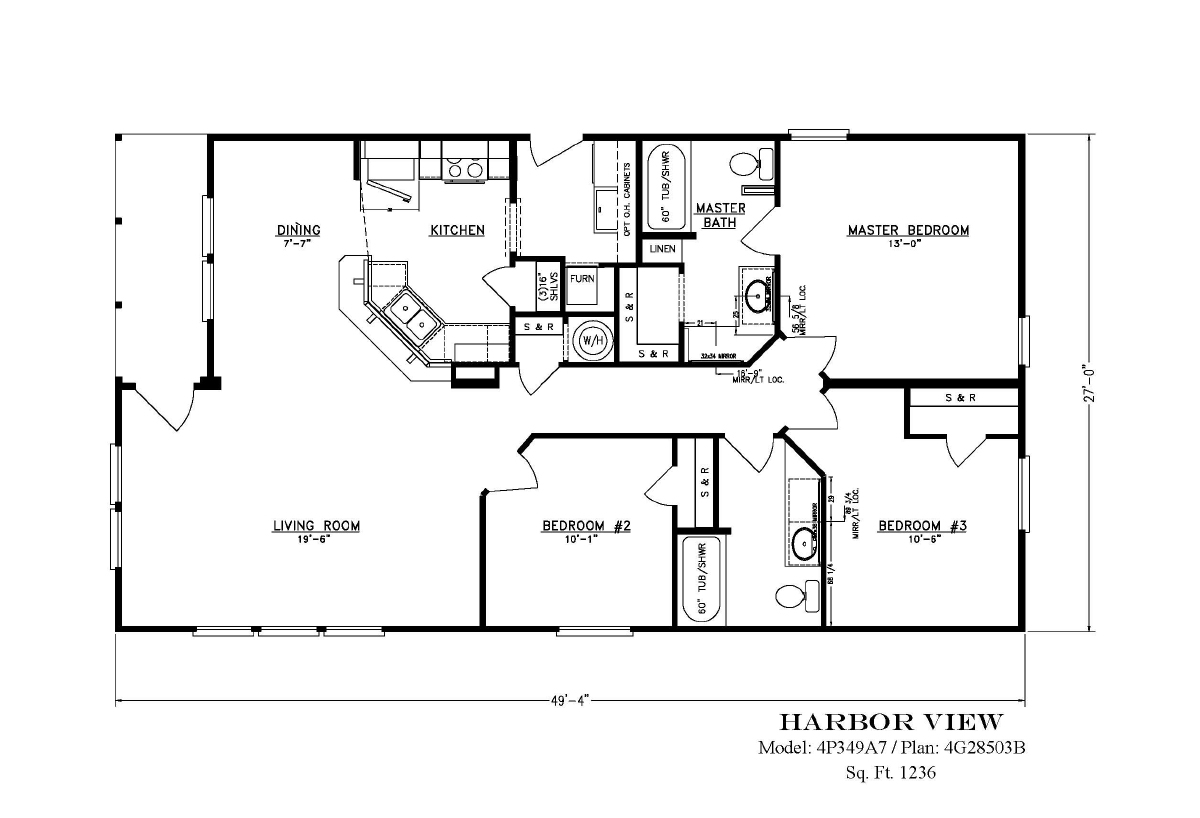Palm Harbor The Harbor View N4P349A7 Layout