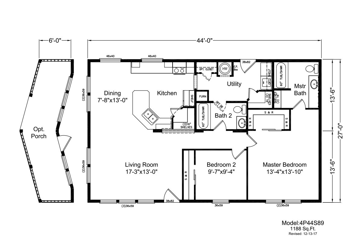 Palm Harbor The Creekside N4P44S89 Layout