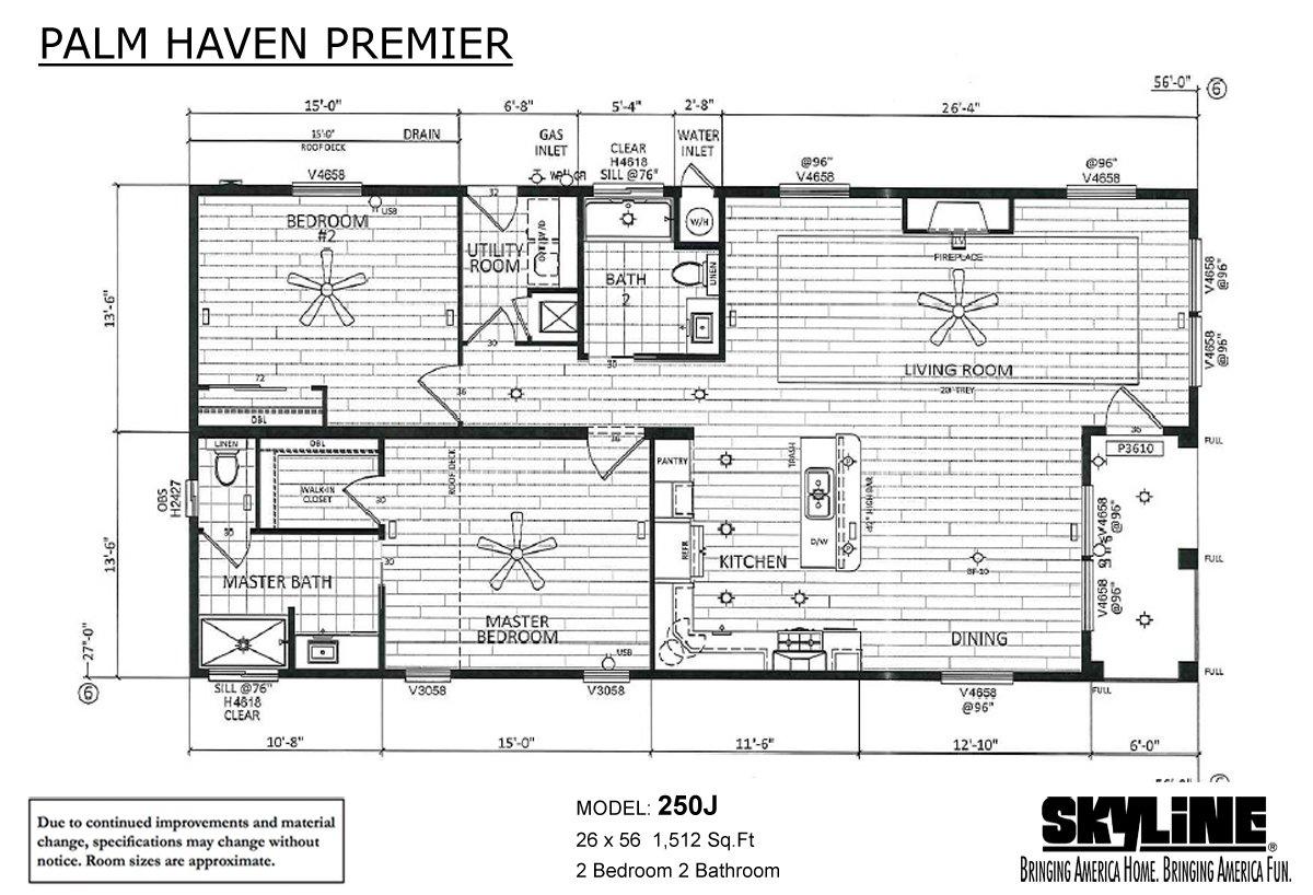 Palm Haven Premier - 250J