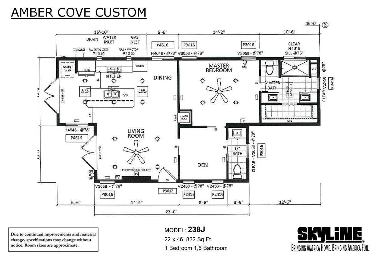 Amber Cove Custom 238J Layout