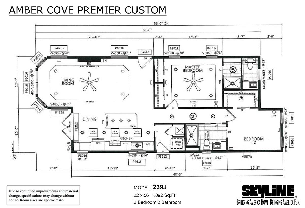 Amber Cove Premier Custom 239J Layout