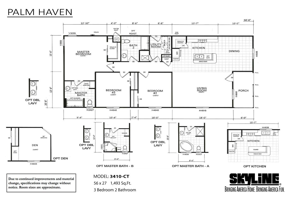 Palm Haven 3410-CT Layout
