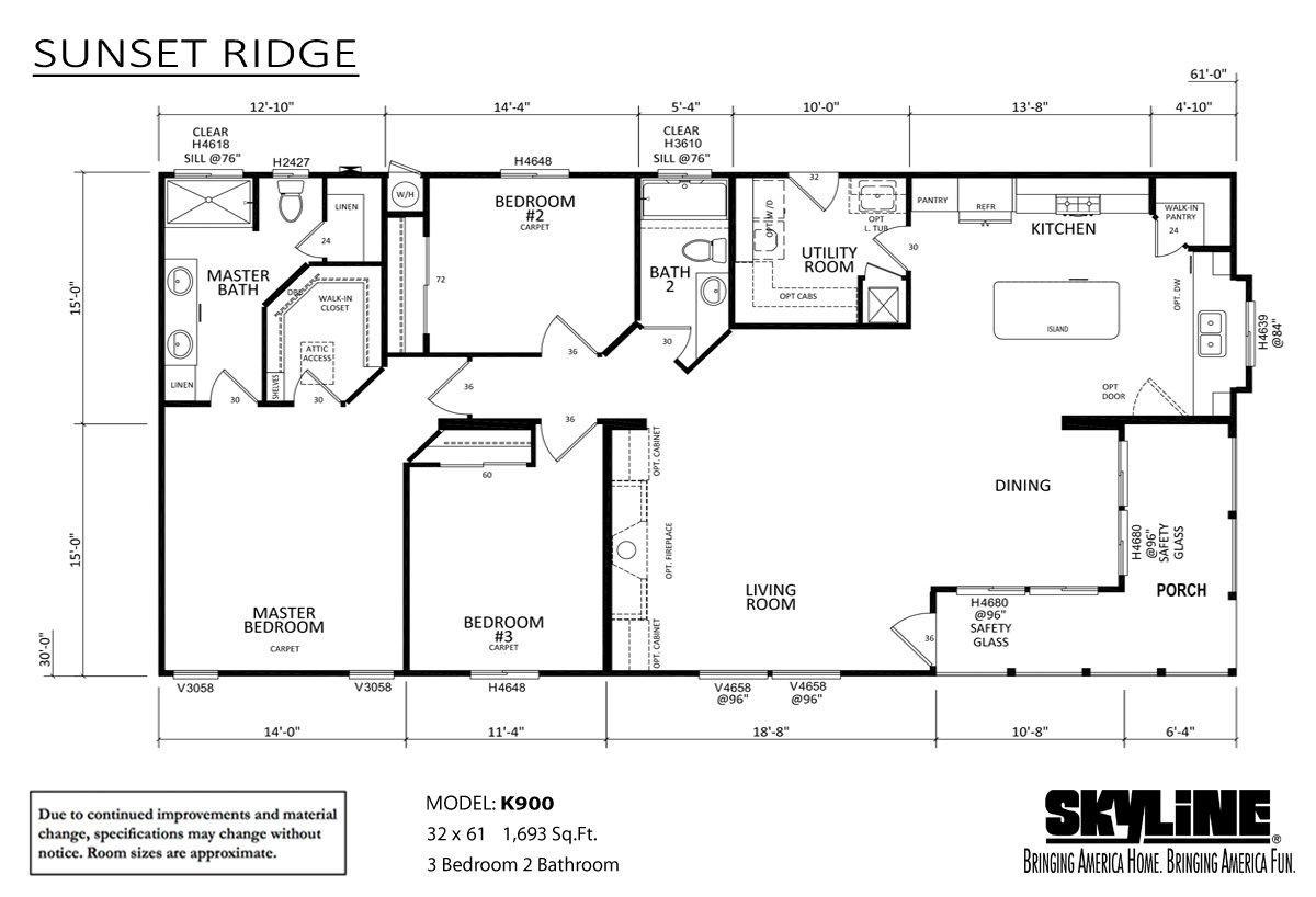 Sunset Ridge K900 Layout