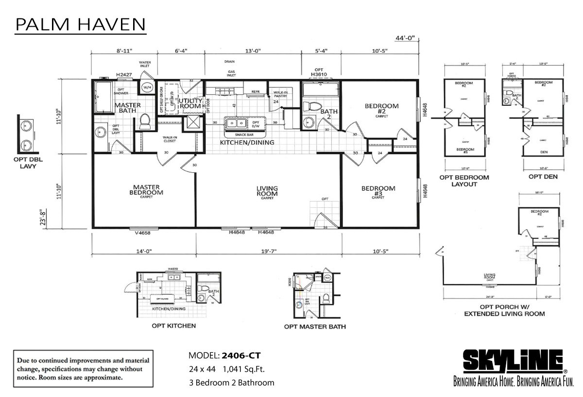 Palm Haven 2406-CT Layout