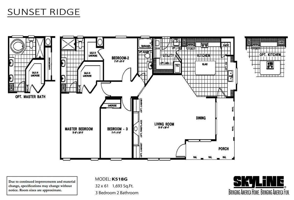 Sunset Ridge K518G Layout