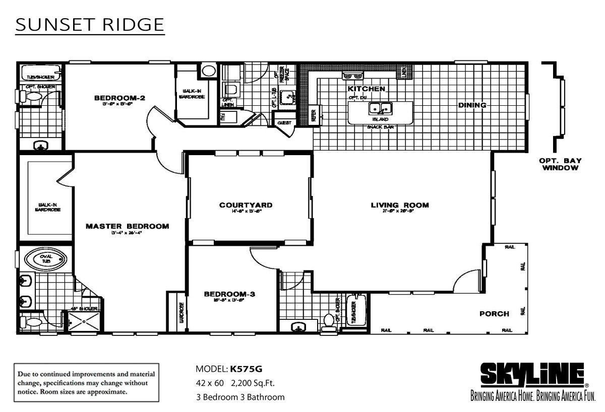 Sunset Ridge K575G Layout
