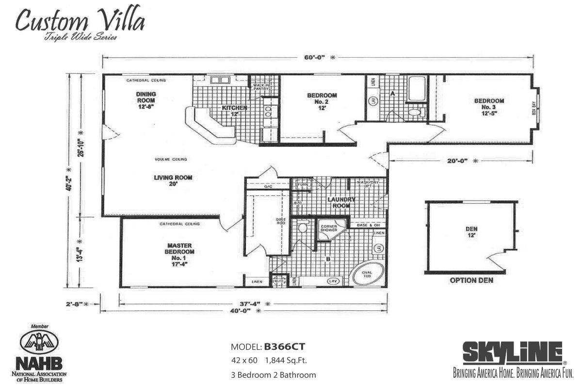 Custom Villa B366CT Layout