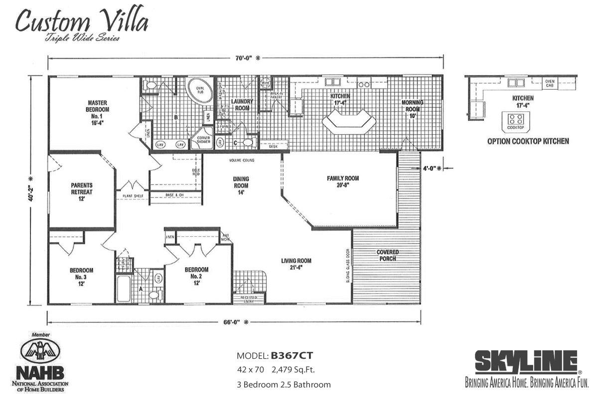 Custom Villa B367CT Layout