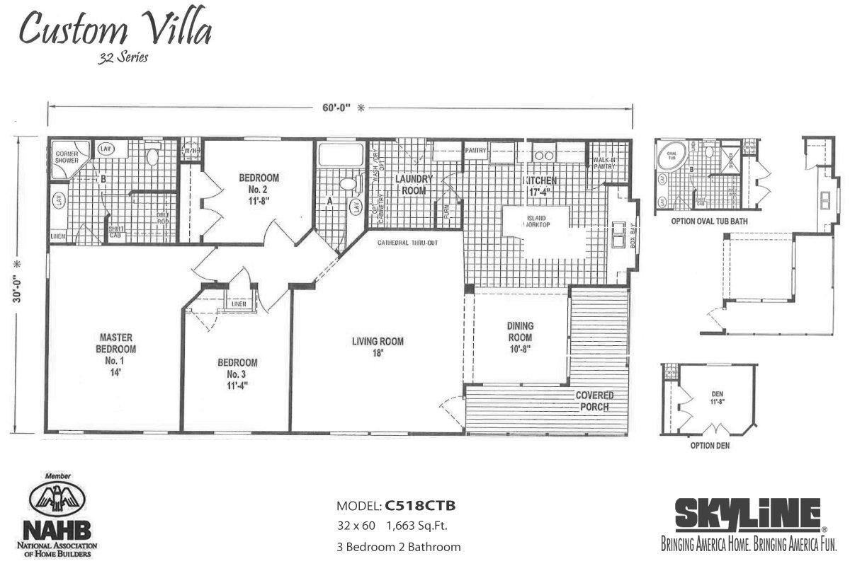 Custom Villa C518CTB Layout