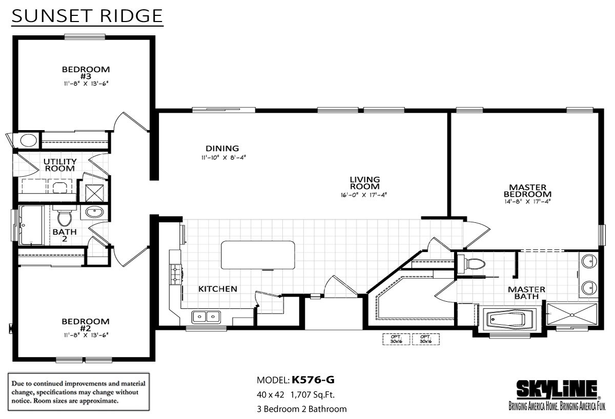 Sunset Ridge K576G Layout