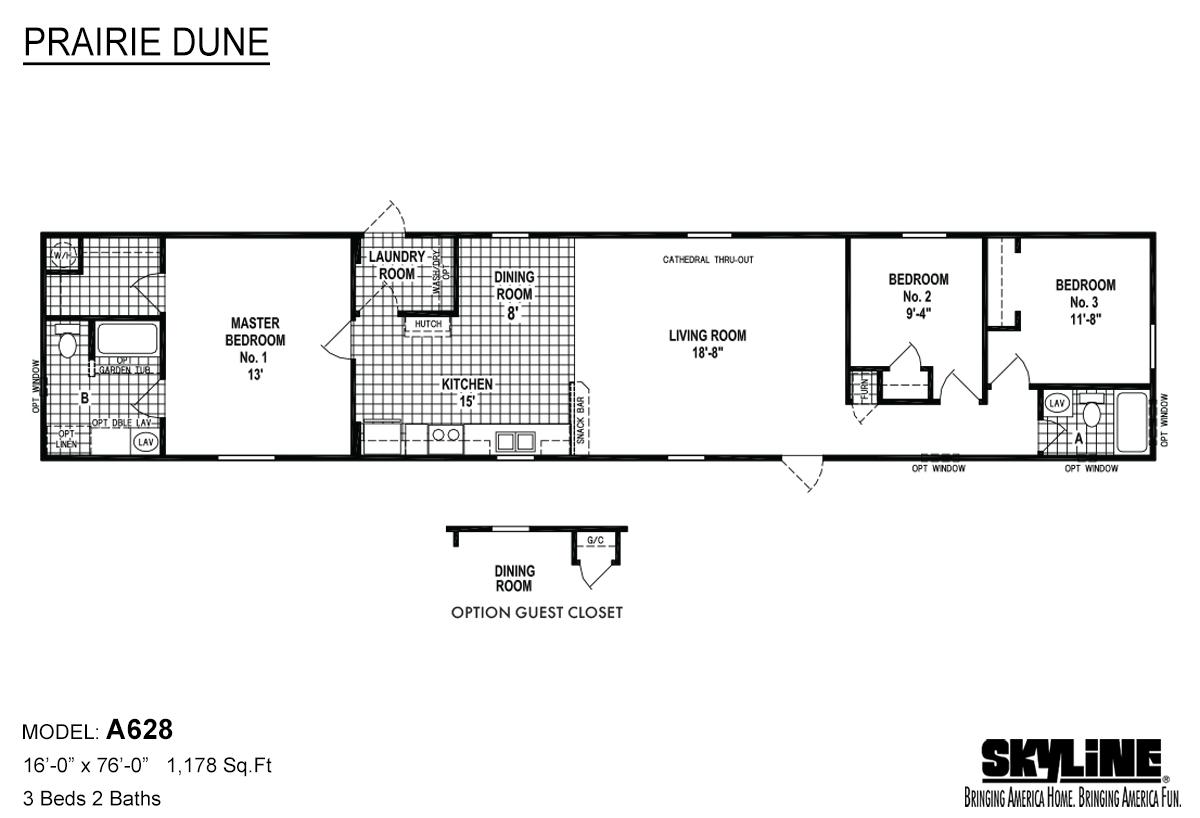 Prairie Dune A628 Layout