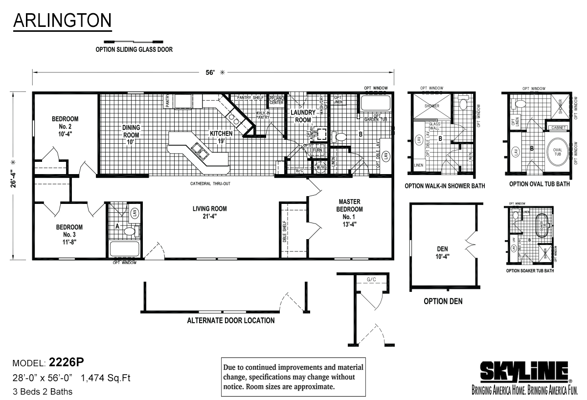 Arlington 2226P Layout