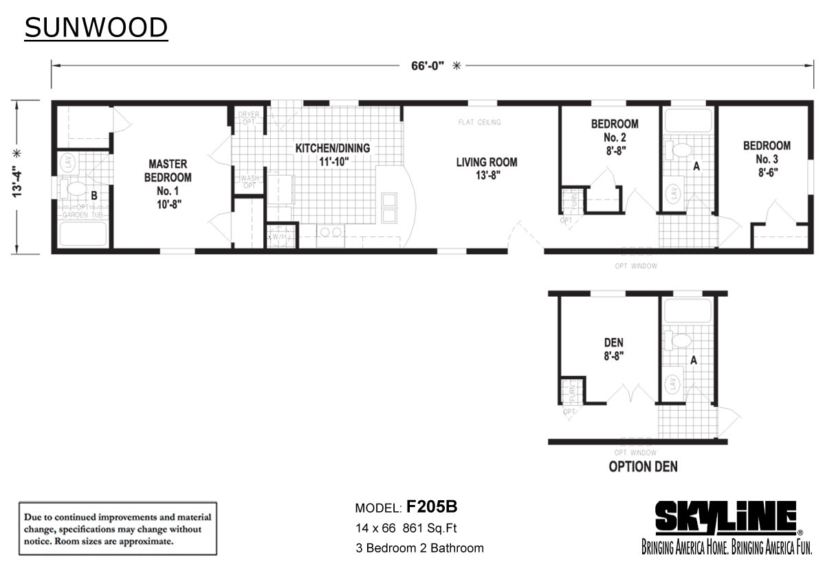 Sunwood F205B Layout