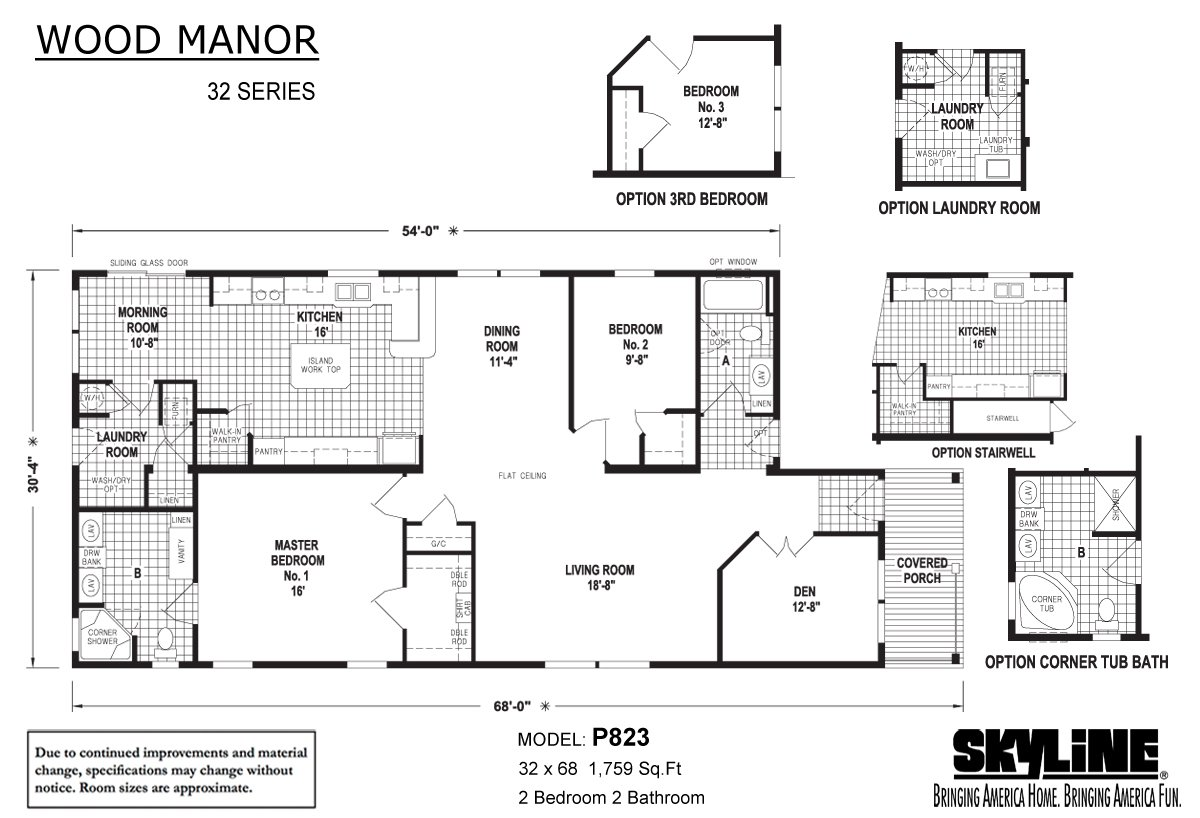 Wood Manor P823 Layout