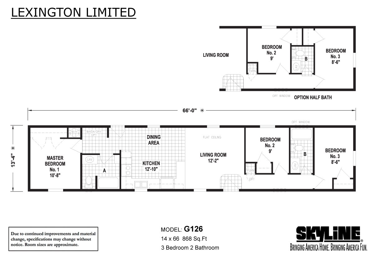 Lexington Limited G126 Layout