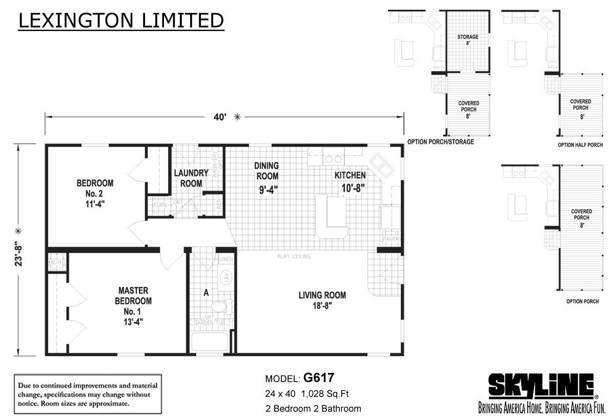 Lexington Limited G617 Layout
