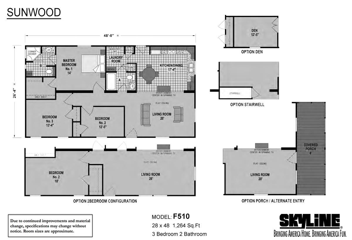 Sunwood F510 Layout