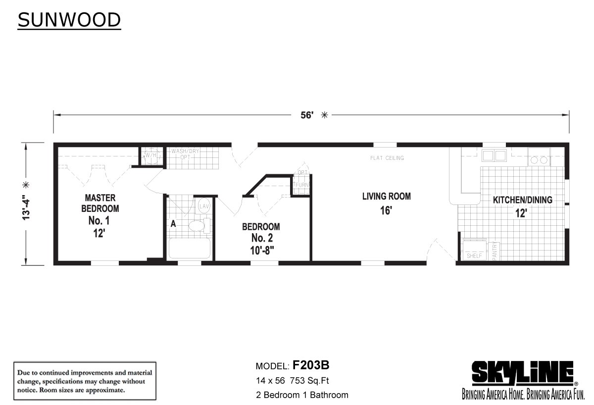 Sunwood F203B Layout