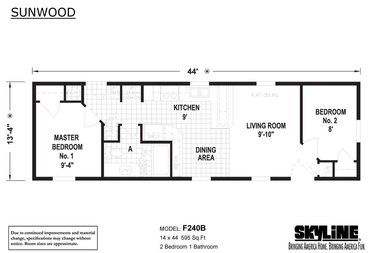 Sunwood F240B Layout