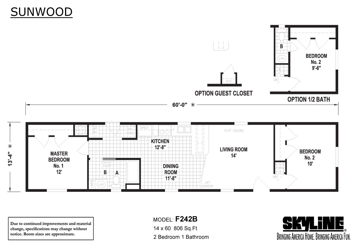 Sunwood F242B Layout