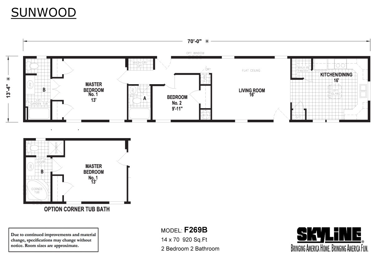 Sunwood F269B Layout
