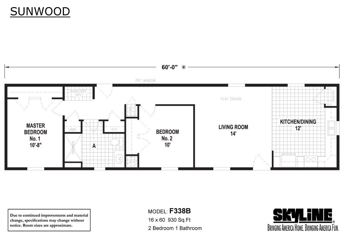 Sunwood F338B Layout