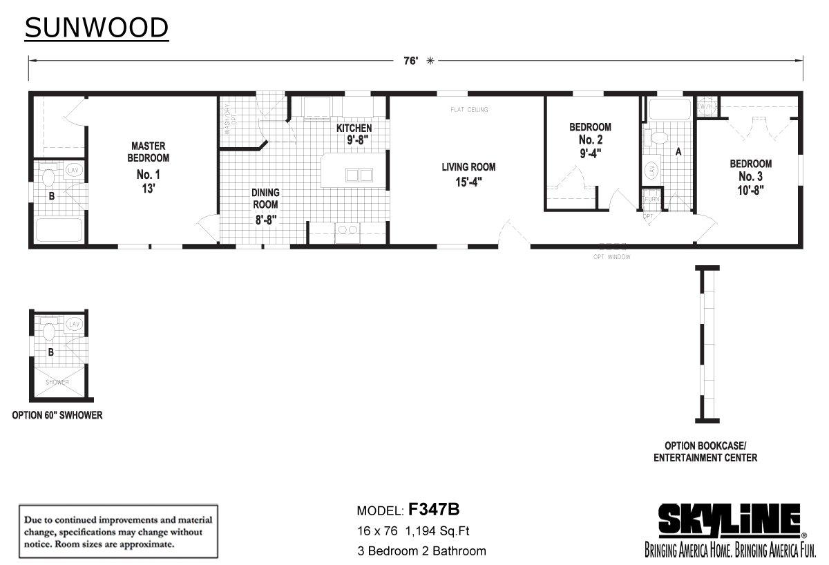 Sunwood F347B Layout