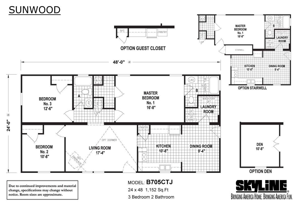 Sunwood B705CTJ Layout