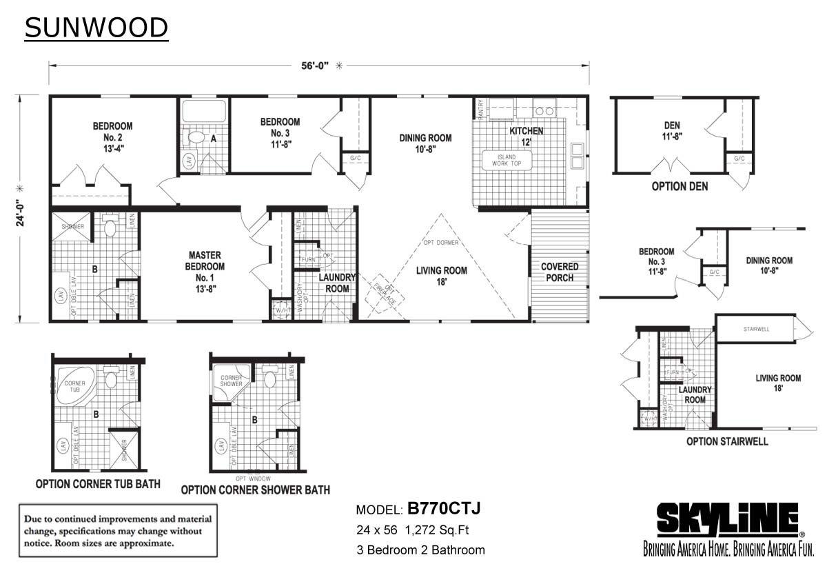 Sunwood B770CTJ Layout