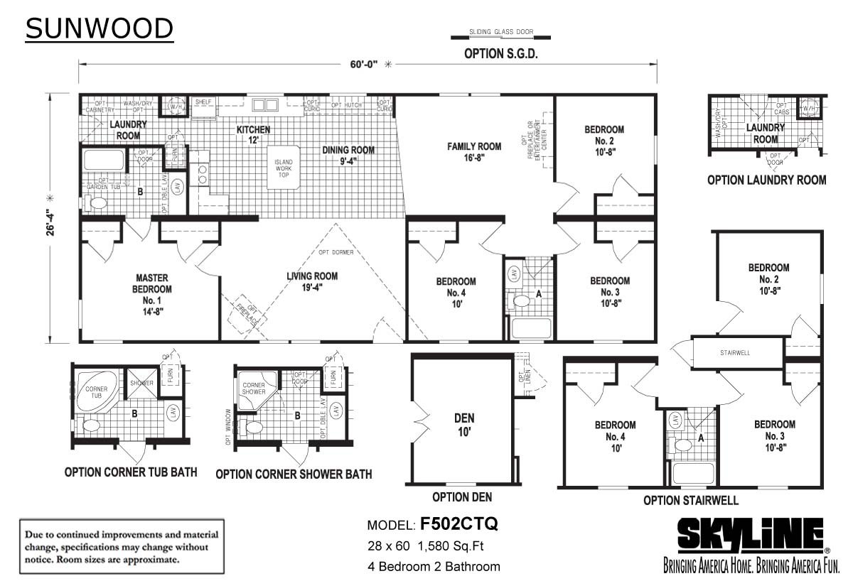 Sunwood F502CTQ Layout