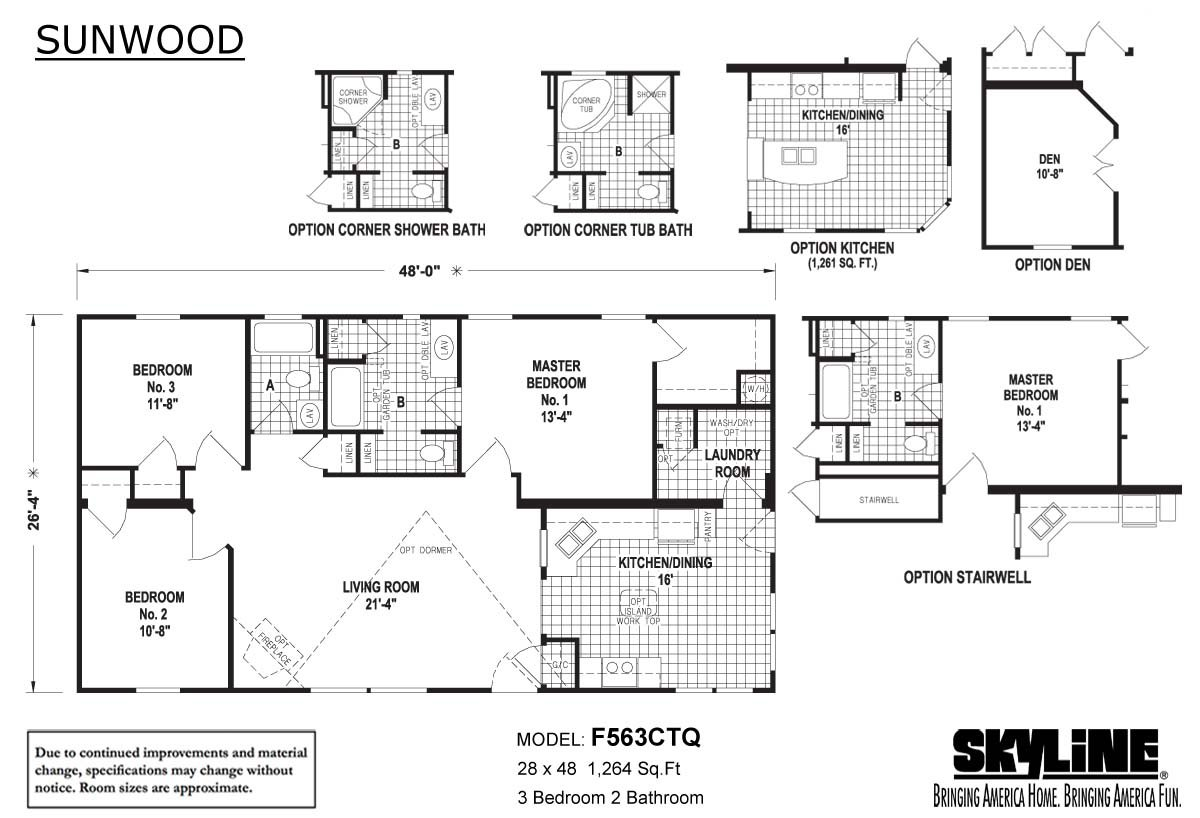 Sunwood F563CTQ Layout