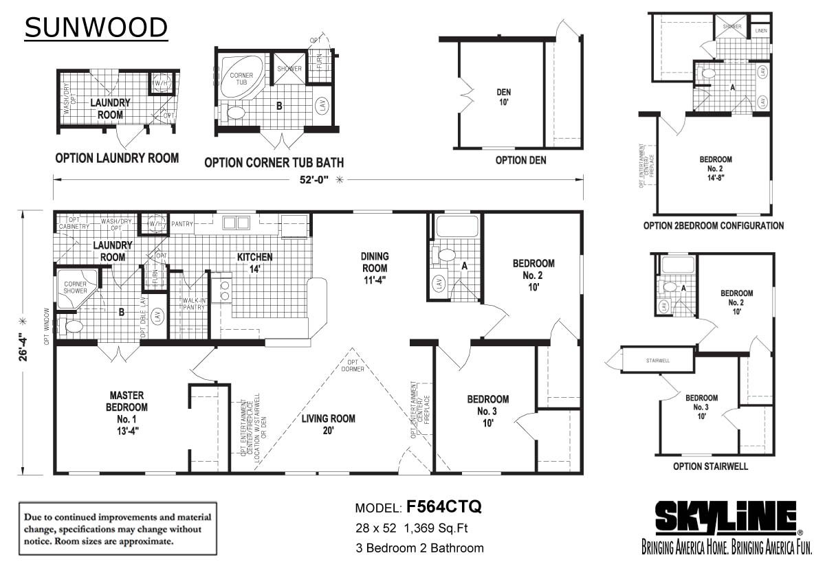 Sunwood F564CTQ Layout