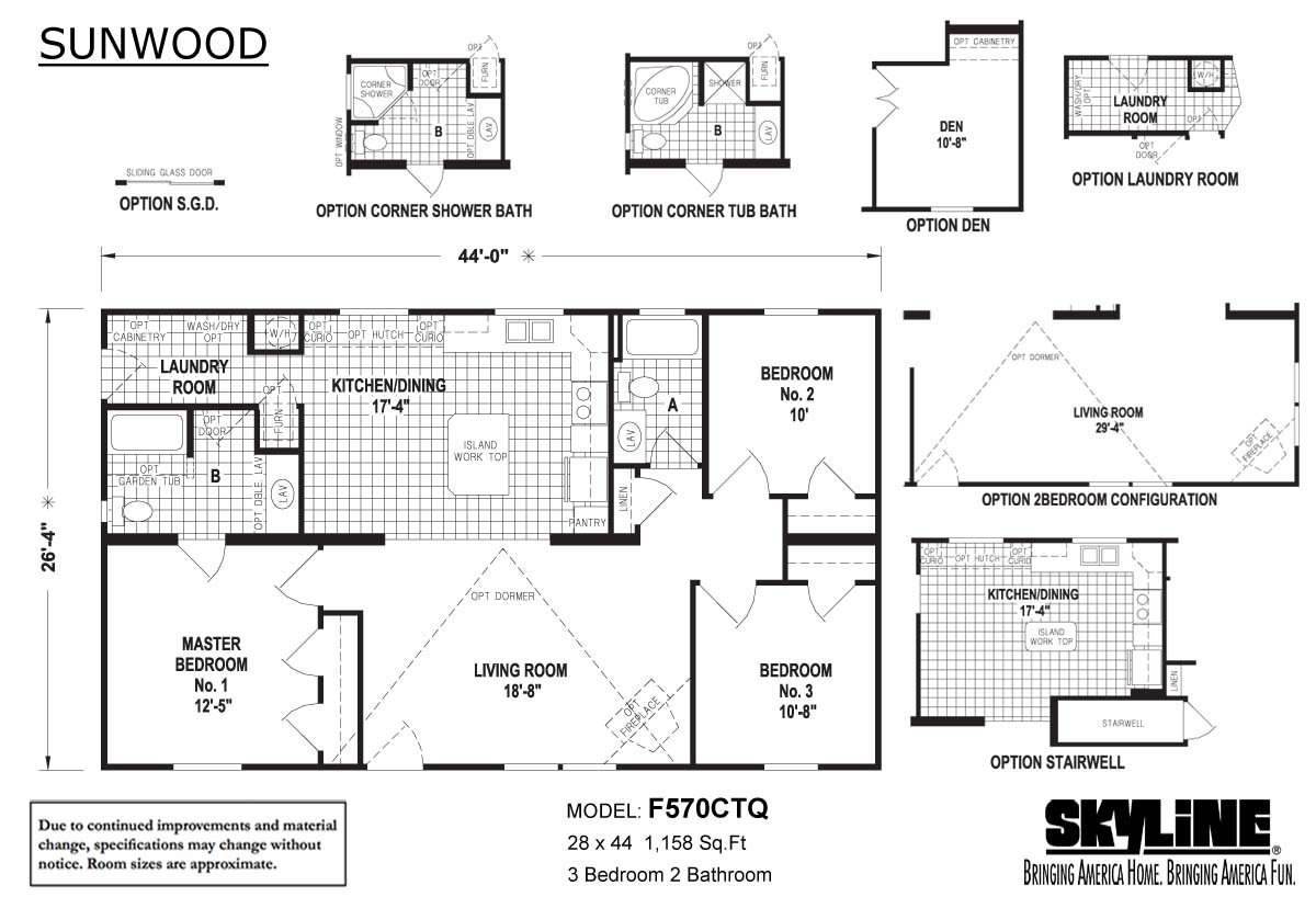 Sunwood F570CTQ Layout