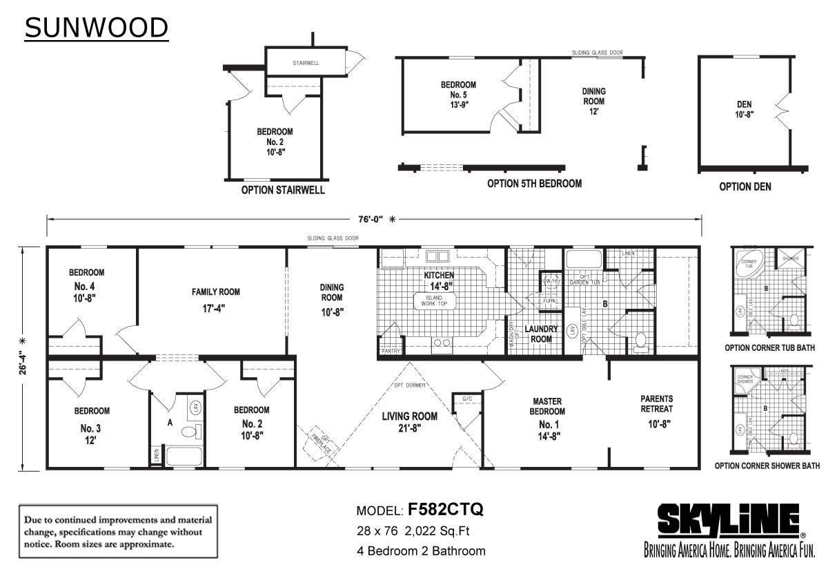 Sunwood F582CTQ Layout