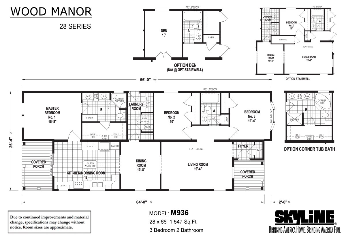Wood Manor M936 Layout