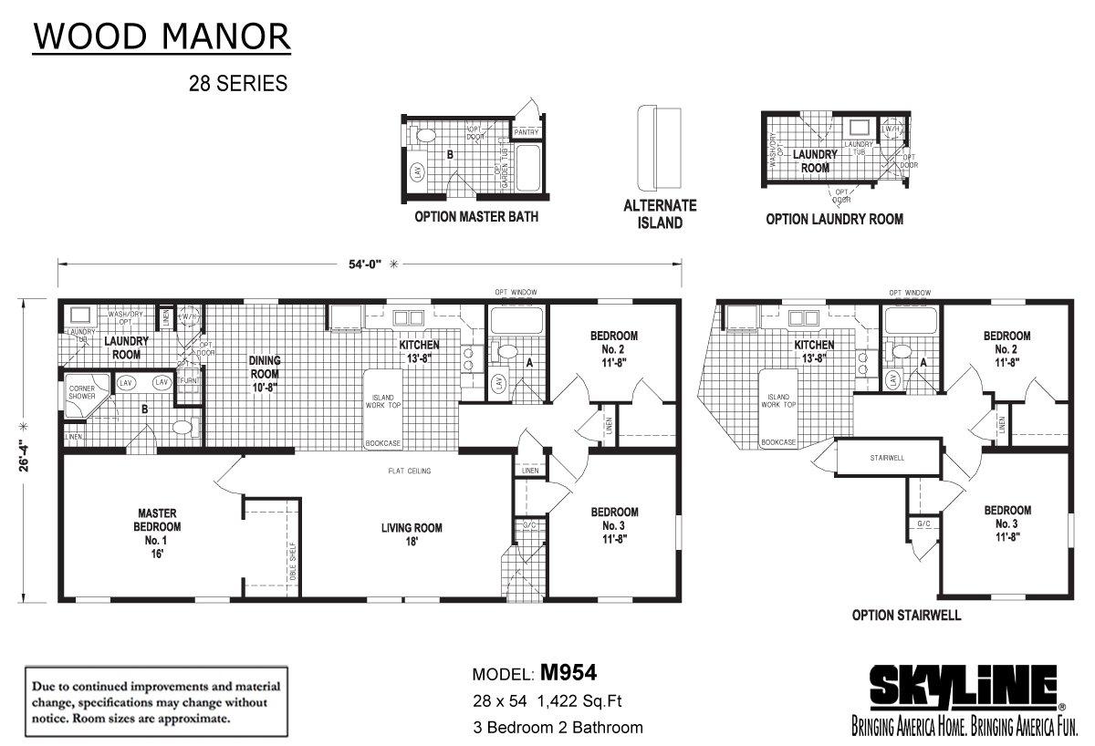 Wood Manor M954 Layout