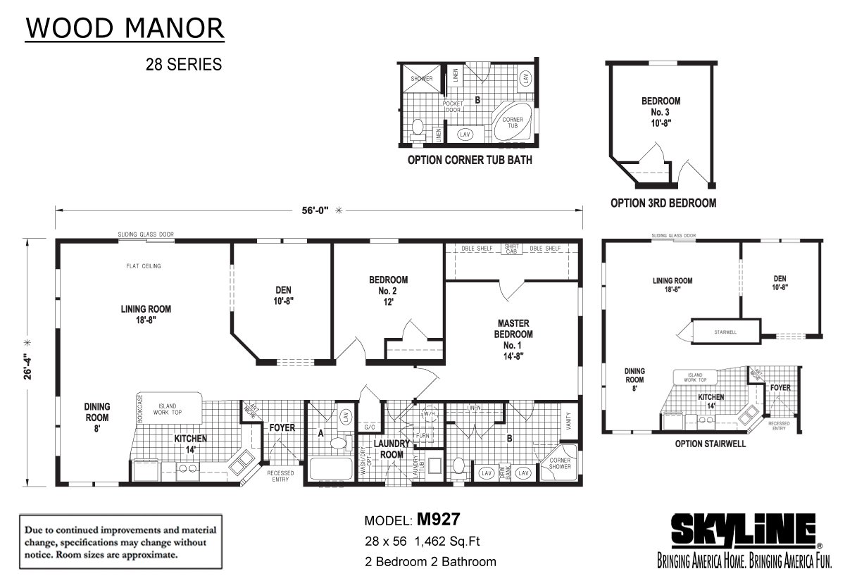 Wood Manor M927 Layout
