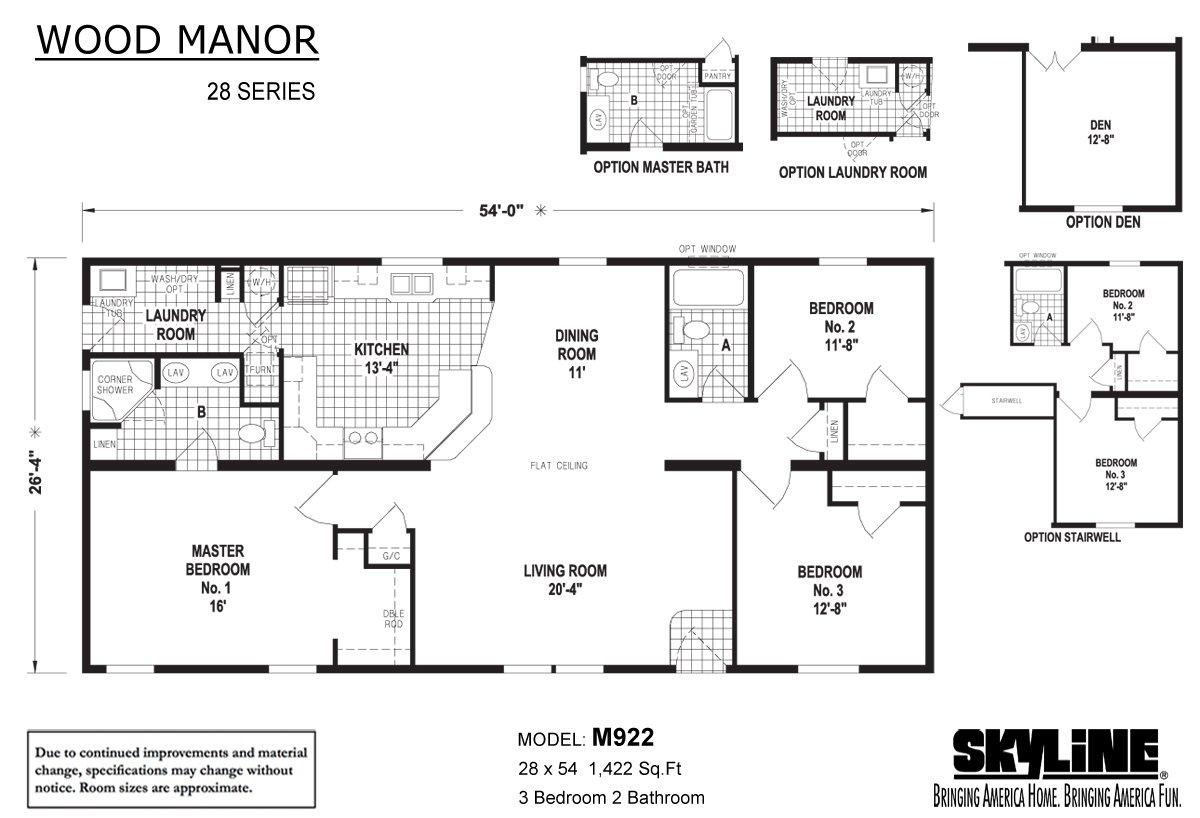 Wood Manor M922 Layout
