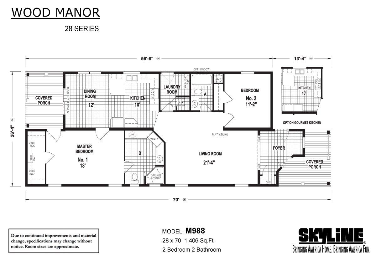 Wood Manor M988 Layout