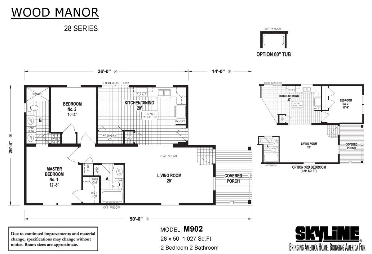 Wood Manor M902 Layout