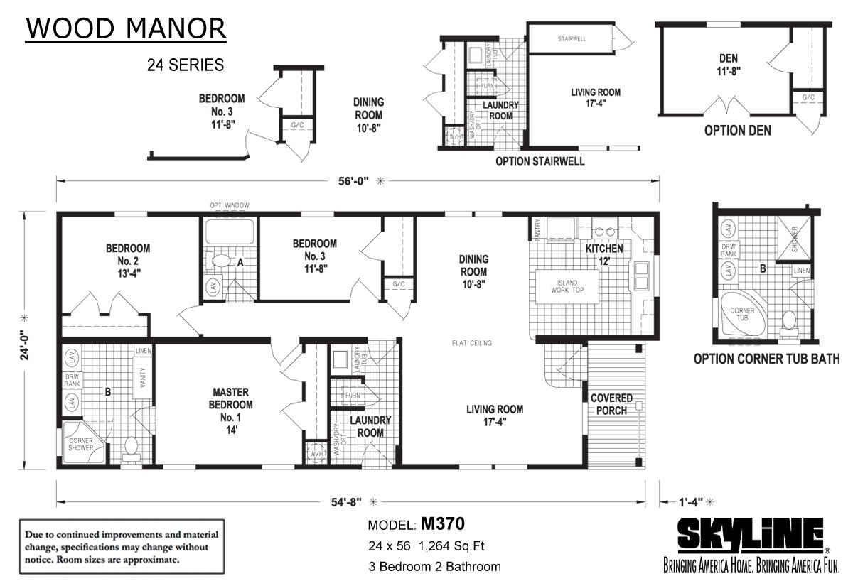 Wood Manor M370 Layout