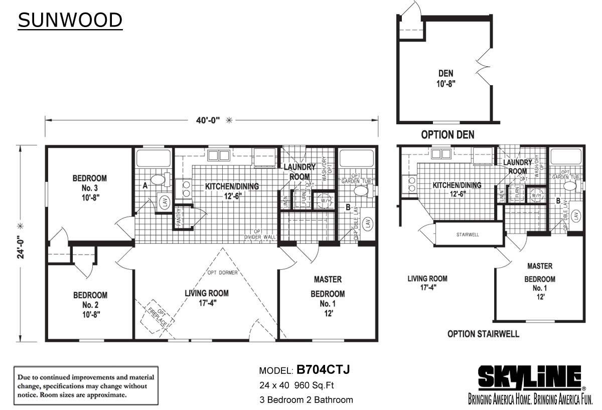 Sunwood B704CTJ Layout