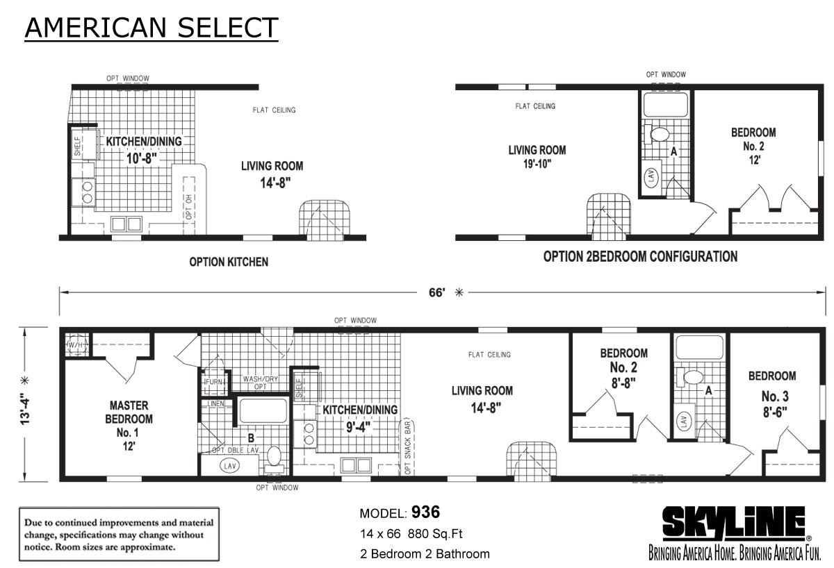 American Select 936 Layout